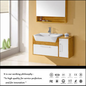Wooden Pattern MDF Bathroom Cabinet (ZH025) pictures & photos