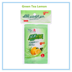 Green Apple Green Tea Cotton Non-Woven Moisturizing Wet Wipe 10 PCS pictures & photos