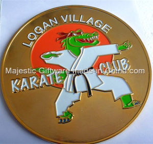 Soft Enamel Gold Plating One-Side Coin pictures & photos