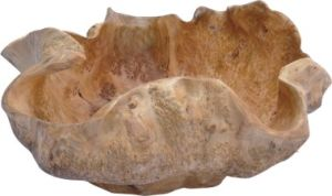 Natural Color #2050 Handly Carved Fir Root Wooden Extra Large Party Bowl