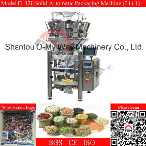 Two in One Puffed Food Fully Automatic Vertical Snacks Packing Machine pictures & photos