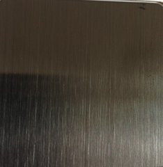 Hairline Stainless Steel Sheet Titanium Black pictures & photos