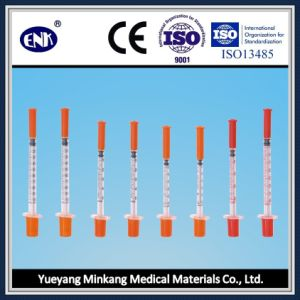 Medical Disposable Insulin Syringe, with Needle (0.3ml) , with Ce&ISO Approved pictures & photos