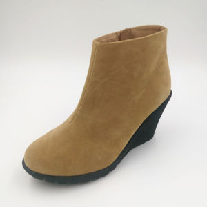 Comfortable PU Wedge Bootie