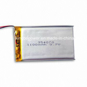 1100mAh 3.7V Polymer Lithium Battery for Portable Digital Product