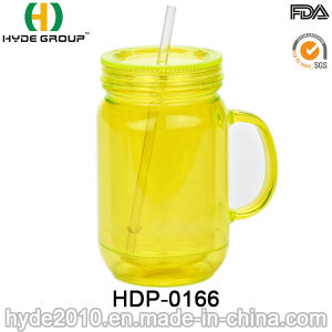 16oz Customized BPA Free Plastic Beer Mug with Handle (HDP-0166) pictures & photos