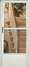 Easy Install Half View Interchangeable Glass Storm Door pictures & photos