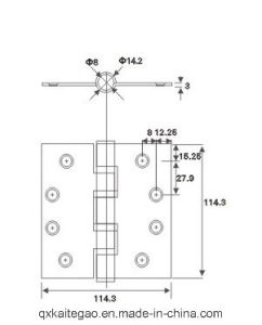 Stainless Steel Ball Bearing Wooden Door Hinge (304545-4BB/2BB) pictures & photos