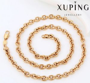 42925 Fashion Charm Sample 18k Gold-Plated Alloy Copper Imitation Jewelry Chain Necklace pictures & photos