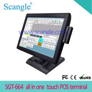 Scangle Sgt-664 5 Wire Resistive Touch POS for Restaurant pictures & photos