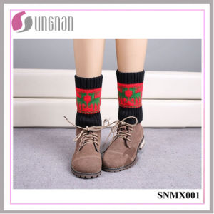 2015 Best Design Warm Christmas Elk Leg Warmers Knitted Socks pictures & photos