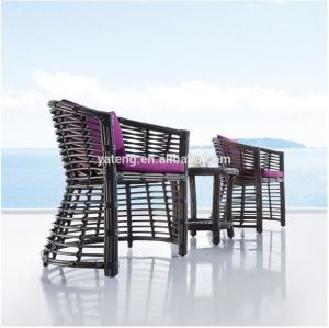 Foshan Factory Directly Sales Garden Furniture Outdoor Wicker Table Set pictures & photos