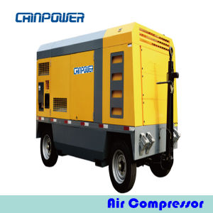 224kw Portable Air Compressor with Diesel Engine Cat C9acertt3