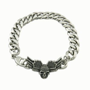 316L Stainless Steel Jewelry Skull Bracelet pictures & photos