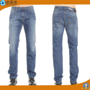 Custom Men Straight Fit Washed Basic Denim Jeans pictures & photos