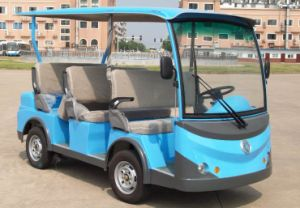 Green Power 8 Seats Electric Sightseeing Car Made by Dongfeng pictures & photos