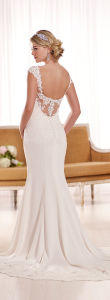 Cap Sleeves Bridal Formal Gowns Lace Chiffon Wedding Dress Snd1897 pictures & photos