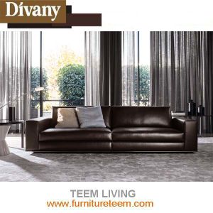 Modern Home Furniture Living Room 3-Seat Leathersofa pictures & photos
