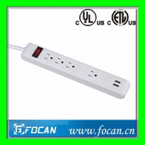 3+1 Outlets Vertical Outlets Strip with USB Ports pictures & photos