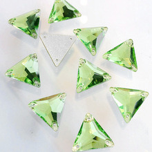 Peridot Triangle Sew on Rhinestones for Dancing Dresses pictures & photos