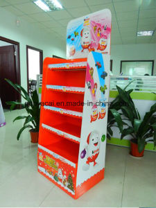 Chocolate Products Corrugated Floor Display Stands Unit, Cardboard Shipper Displays pictures & photos