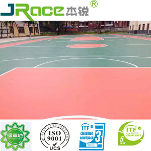 Shock Absorption and Eco-Friendly Silicon PU Flooring pictures & photos