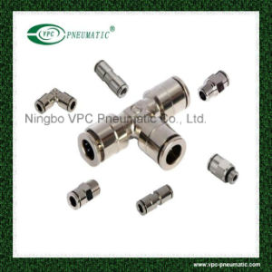 Brass Nickel Plated Equal Elbow Push in Connectors pictures & photos
