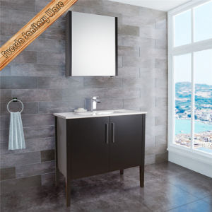 Hihg Leg Cherry Color Bathroom Cabinet Vanity pictures & photos