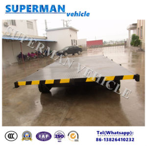 5t 6m Flatbed Cargo Transport Industrial Drawbar Trailer pictures & photos