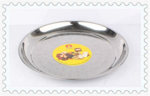 Magnetic 35/40/45/50/55/60/65/70cm Thai Style Flower Stainless Steel Round Plate pictures & photos