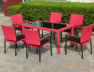 Cheap Price High Quality Outdoor UV-Resistant PE-Rattan Aluminum Furniture Restaurant Set by Chair and Table (YT003) pictures & photos