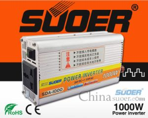 Suoer Power Inverter 1000W Auto Power Inverter 24V to 220V Small Power Inverter (SDA-1000B) pictures & photos