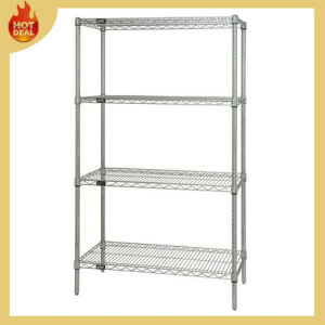 Storage Plastic Coated Metal Wire Mesh Shelving Rack pictures & photos
