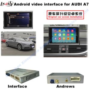 Car HD Upgrade Multimedia Android Interface GPS Navigation Box for A7 Support WiFi/Mirrorlink pictures & photos