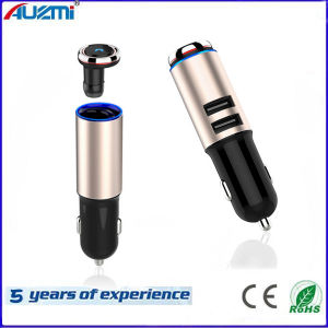 Business Style Dual USB Car Charger with Wireless Bluetooth Headphone