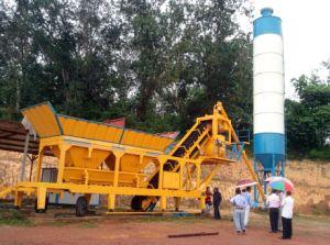 Yhzs 25 Mobile Concrete Batching Plant (25m3/h) pictures & photos