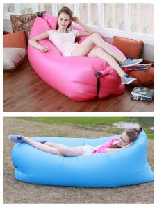 2016 New Laybag Hangout Air Sleeping Bag Lazy Laybag Fast Inflatable Lazy Chair Sofa Portable Beach Nylon Fabric Sleep Bed