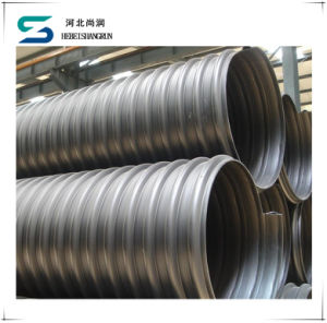 ISO HDPE Steel Band Reinforced Corrugated Pipe for Sewage pictures & photos