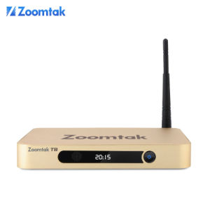 Dual Band WiFi TV Box with Amlogic S802 Ota Update Zoomtak T8 pictures & photos