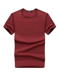 Blank Cotton Wholesale Mens Round Neck T Shirt pictures & photos