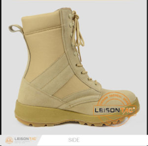 Tactical Boots of Waterproof Nylon and Cowhide Leather/ Anti-Slip and Anti-Abrasion pictures & photos
