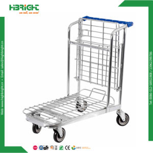 Building Material Stores Platform Heavy Duty Foldable Cargo Shopping Cart pictures & photos