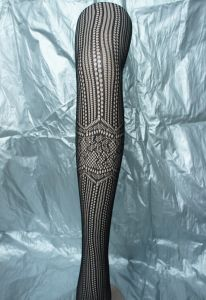 Sexy Stocking Black Tights with Floral Pattern 2003 pictures & photos