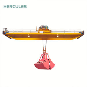 Double Beam Bridge Crane with Grab pictures & photos