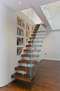 Indoor Floating Stairs/ Cantilevered Staircase