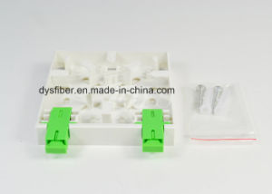 FTTH-006 Mini 2 Ports FTTH Network Face Plate pictures & photos