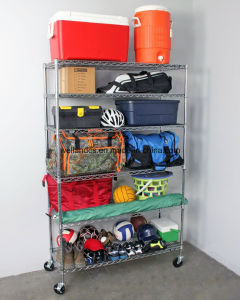 High Quality Commercial 6 Tier Metal Shelving Safe Racks with NSF Approval pictures & photos