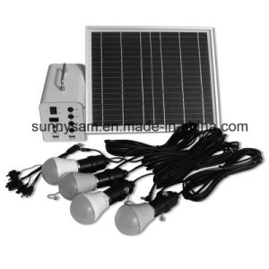 Solar Lights 20W Solar Power Outdoor Lighting Home System with 4PCS Bulbs for Indoor or Camping pictures & photos