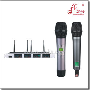 Handheld Four Channel Receiver UHF Wireless FM Mic Microphone (AL-4800UM) pictures & photos