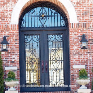 Factory Direct Exterior Wrought Iron Double Door (UID-D045) pictures & photos